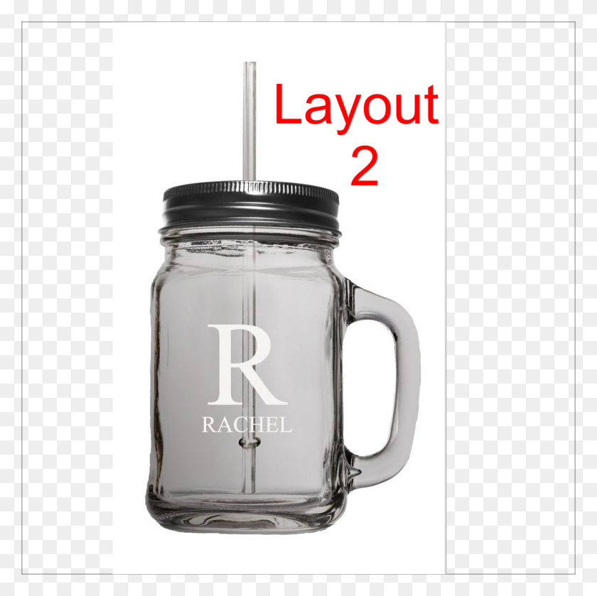 1002x1002 Oz Mason Jar With Lid And Straw Points Custom Laser Engraving - Mason Jar PNG
