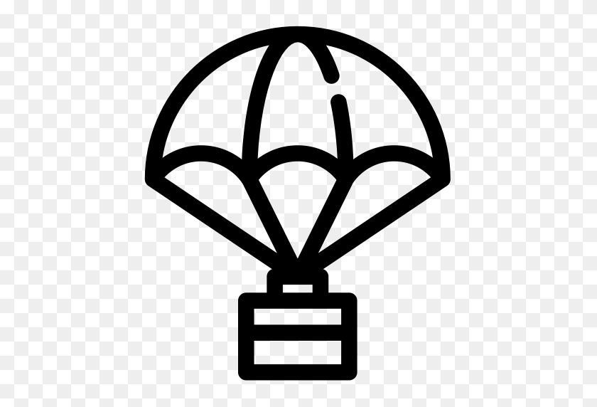 Package With Parachute, Parachute Icon With Png And Vector Format - Parachute PNG