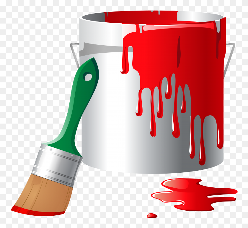 Paint Bucket Png Clip Art - Red Paint PNG