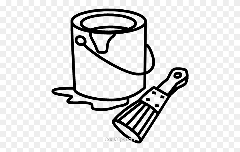 Paint Clipart Black And White - Paint Bucket Black And White - Png Download  (#275147) - PinClipart