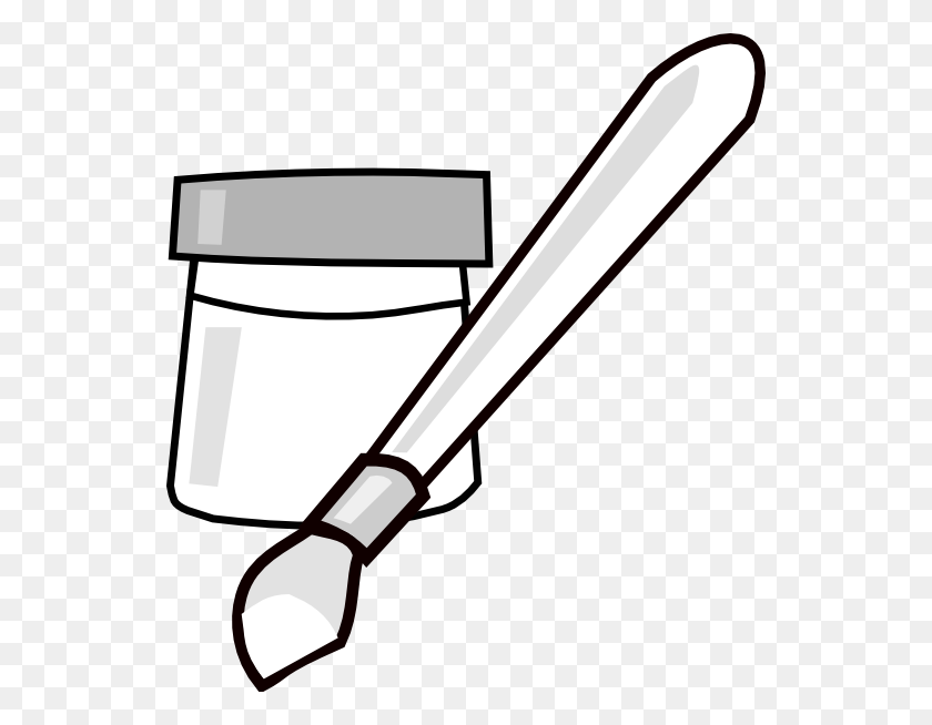 540x594 Paint Can Clip Art - Artist Palette Clipart