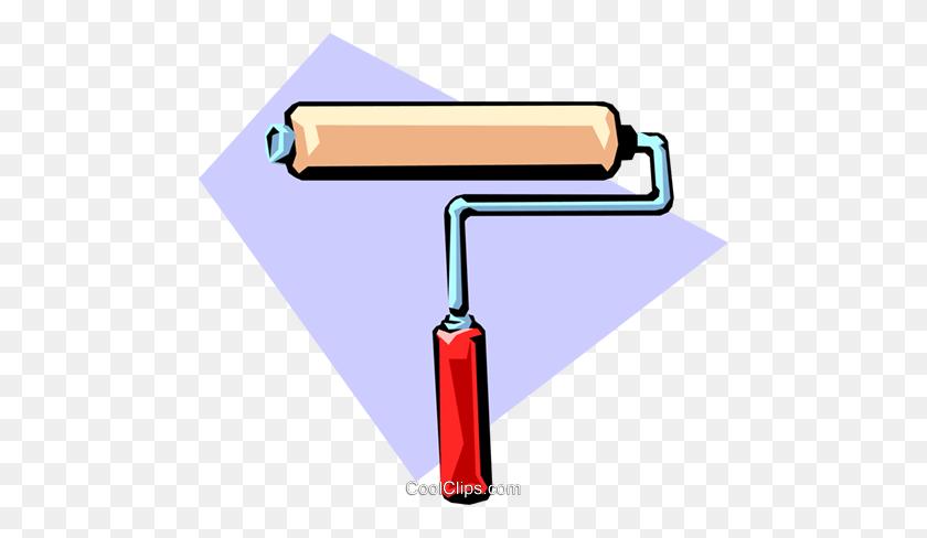 Paint Roller Royalty Free Vector Clip Art Illustration - Paint Roller Clipart