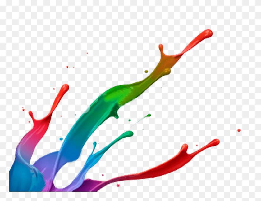 Paint Splatter Footer Transparent Png - Red Paint PNG