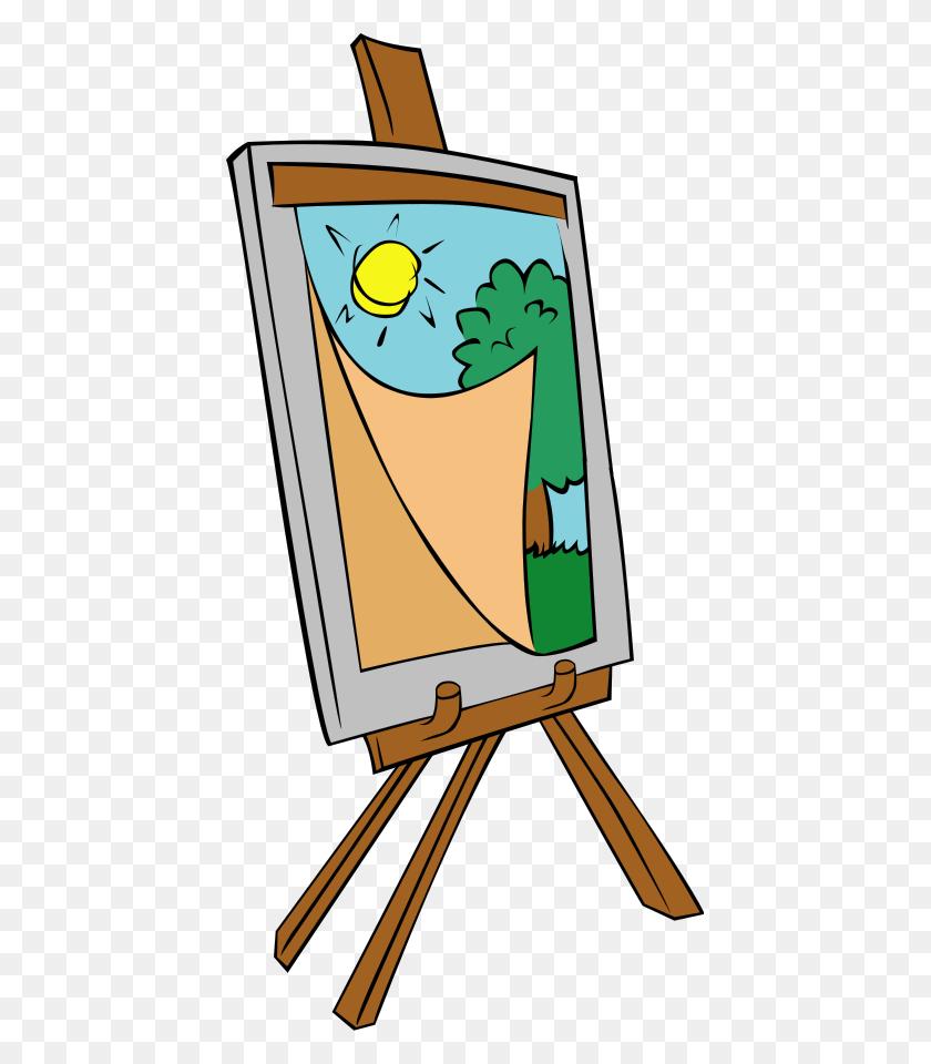 431x900 Painting Clip Art Image - Artist Palette Clipart