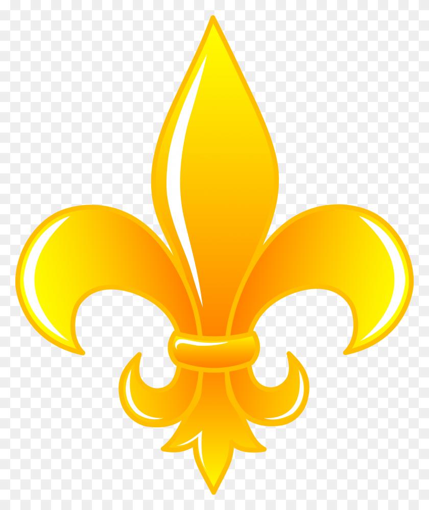 Painting Fleur De Lis Shiny Golden Fleur De Lis - Tiger Cub Clipart
