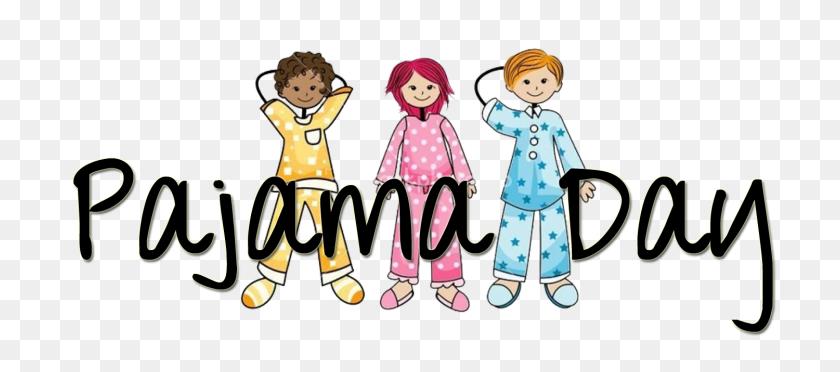 Pajama Day Clip Art - School Kids Clipart