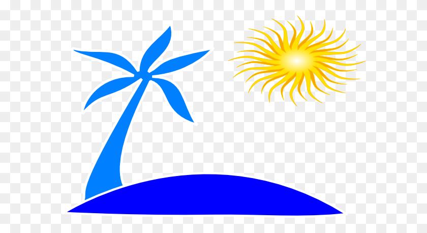 Palm Tree Beach Clipart - Palm Tree Beach Clip Art