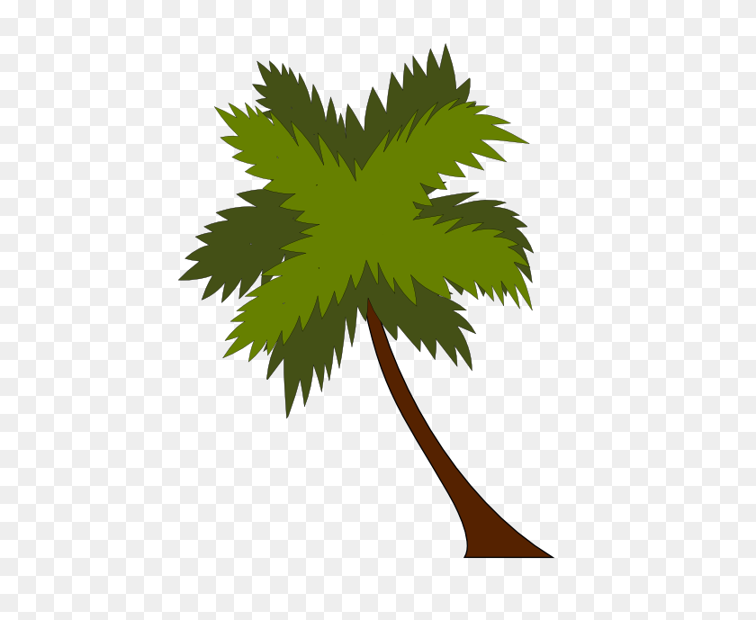 Palm Tree Clipart Cocunut - Palm Branch Clip Art