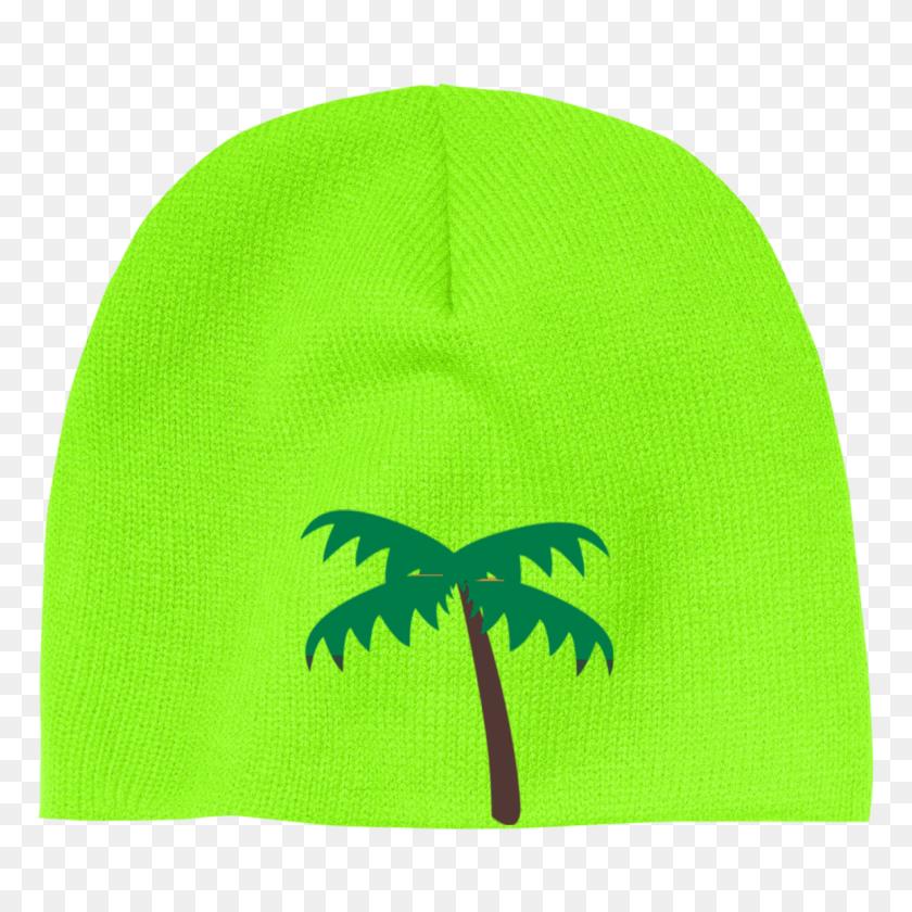 Palm Tree Emoji Acrylic Beanie Palm Tree - Palm Tree Emoji PNG