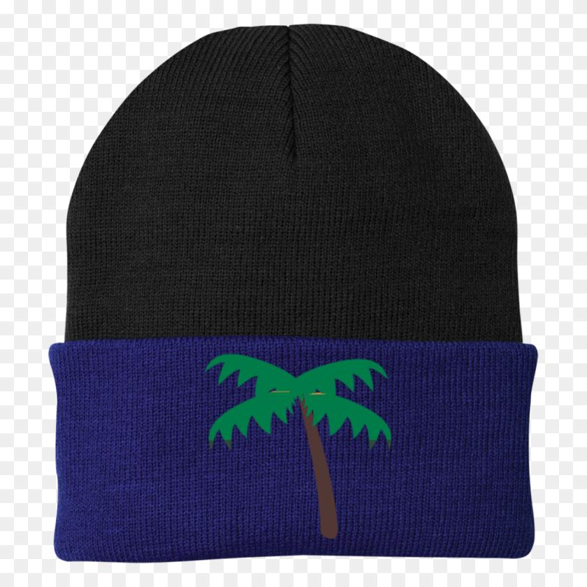 Palm Tree Emoji Port Authority Knit Cap Palm Tree Emoji - Palm Tree Emoji PNG