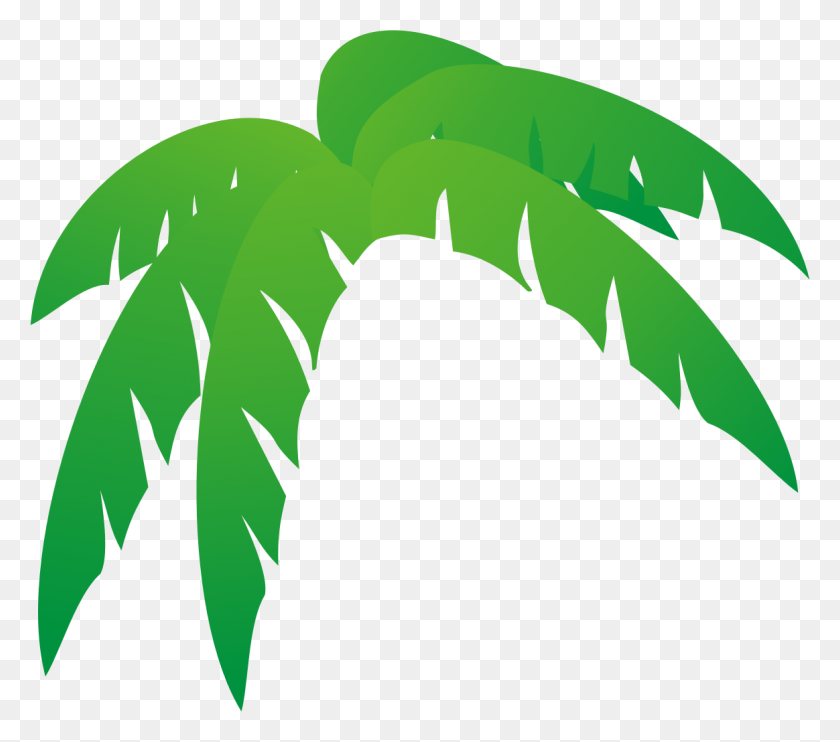 Palm Tree Leaves Free Clip Art Clipartcow - Trees Clipart PNG