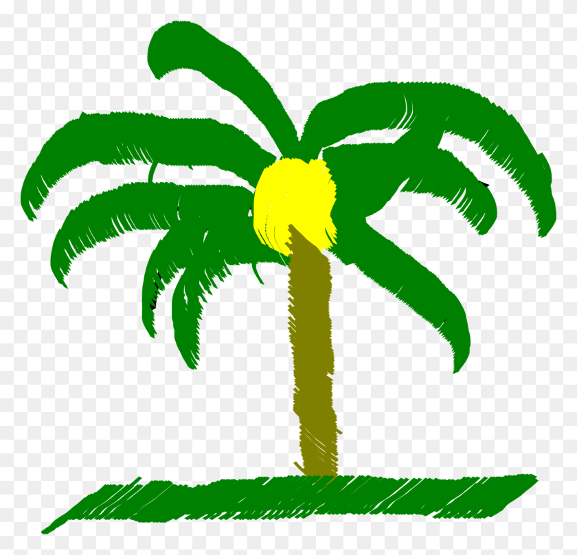 Palm Tree, Palm, Tree, Beach, Caribbean - Palm Tree Beach Clip Art