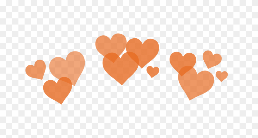 Paloma H E A R T S P N G - Orange Heart PNG