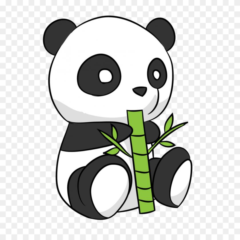 Panda Clip Art Black And White - Boy Angel Clipart