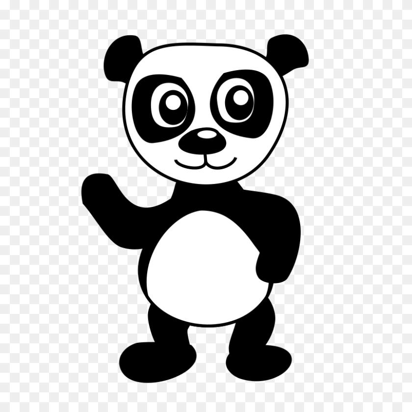 Panda Clipart Line Art - Mama Bear Clipart Black And White