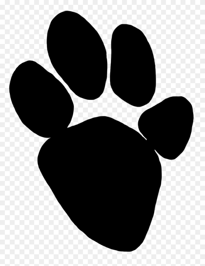 Panther Clipart Paw Print - Panther Paw Print Clip Art