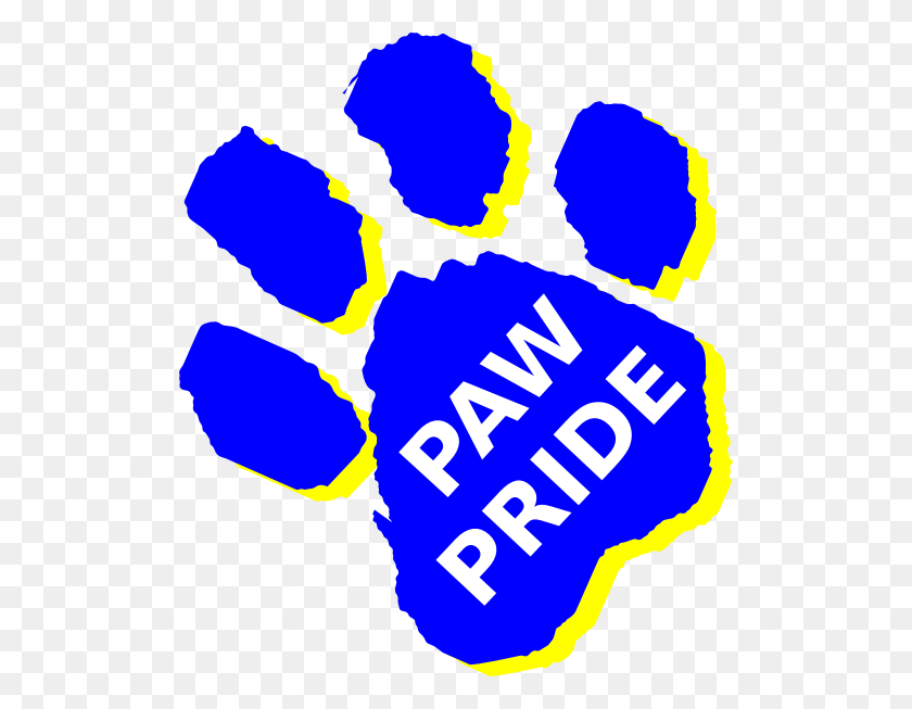 Panther Pride Paw Print Clip Art Free Image - Panther Paw Clipart