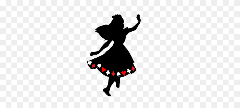 Paper Casilhouette Alice In Wonderland Black And White Clipart Stunning Free Transparent Png Clipart Images Free Download
