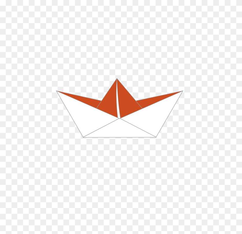 Paper Clip Origami Boat Drawing - Paper Boat PNG