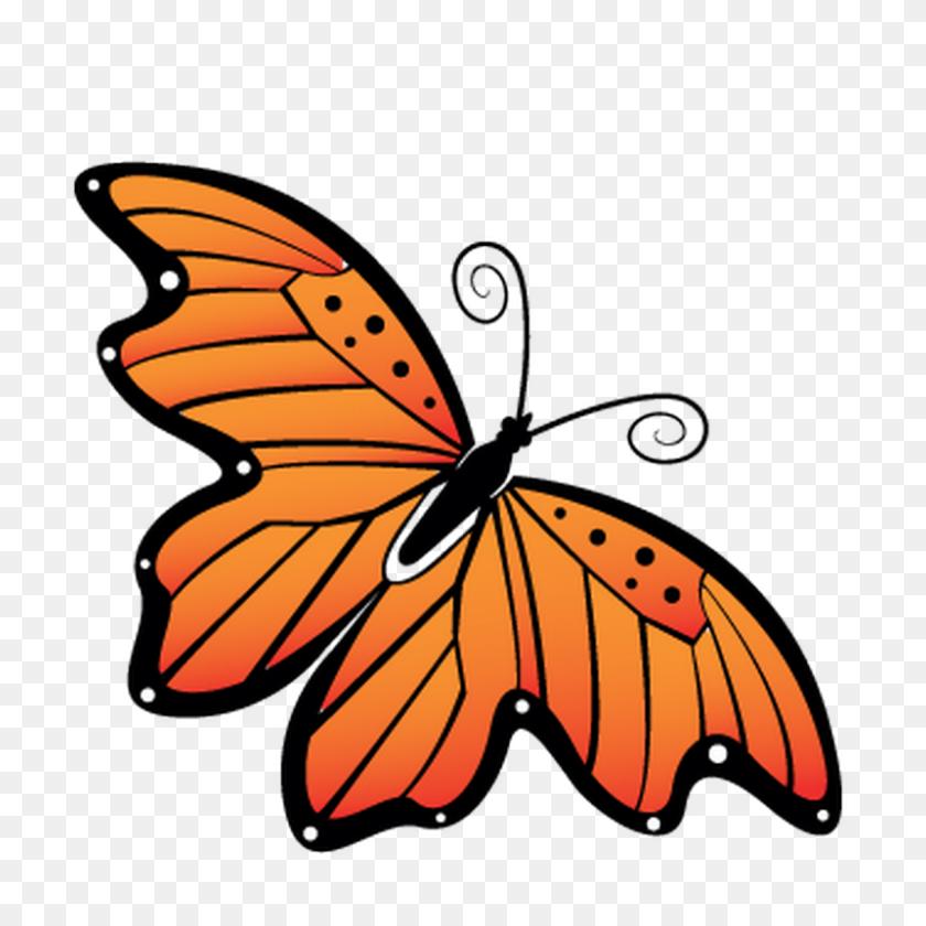 Papillon Clipart Orange Butterfly - Monarch Butterfly Clipart