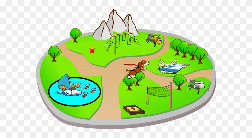 Park Clipart Nature Park - Park Bench Clipart