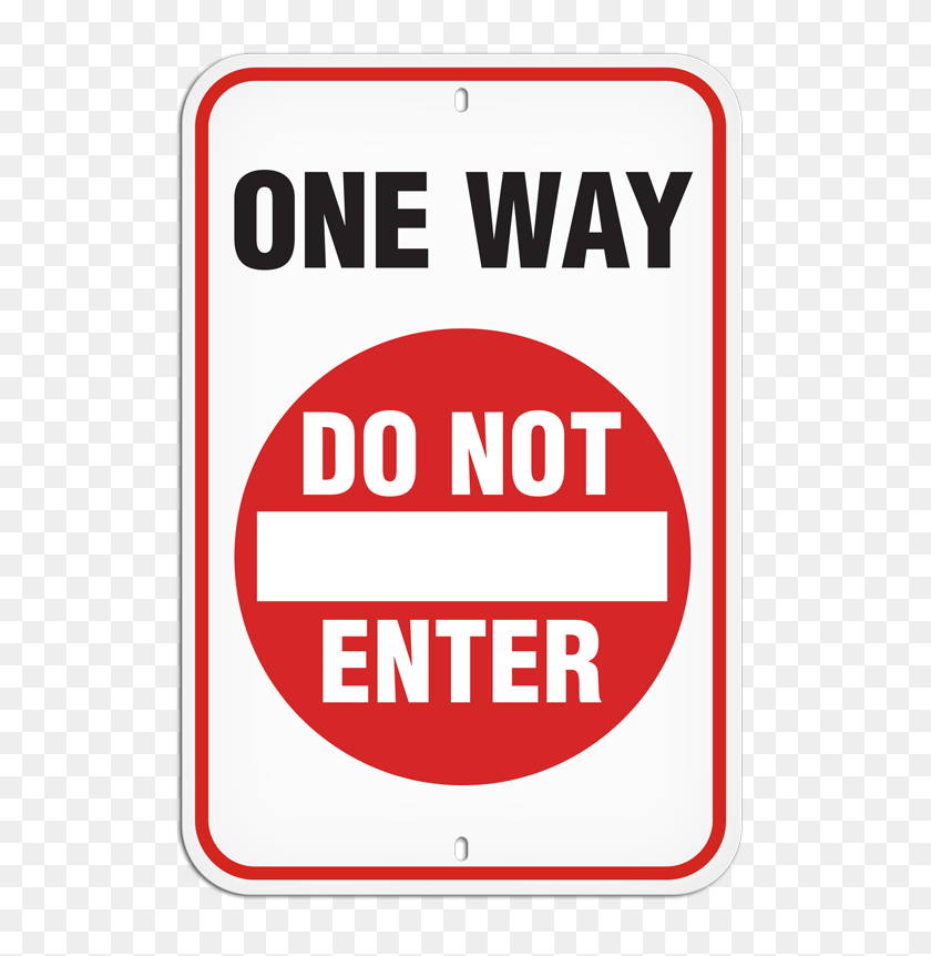 Parking Lot Sign - Do Not Enter Sign PNG