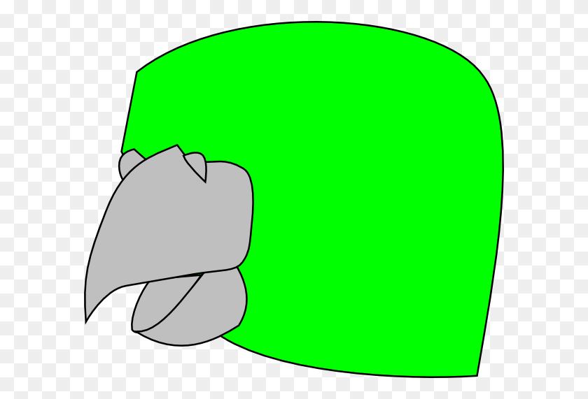 600x511 Parrot Head Template Clip Art - Parrot Clipart