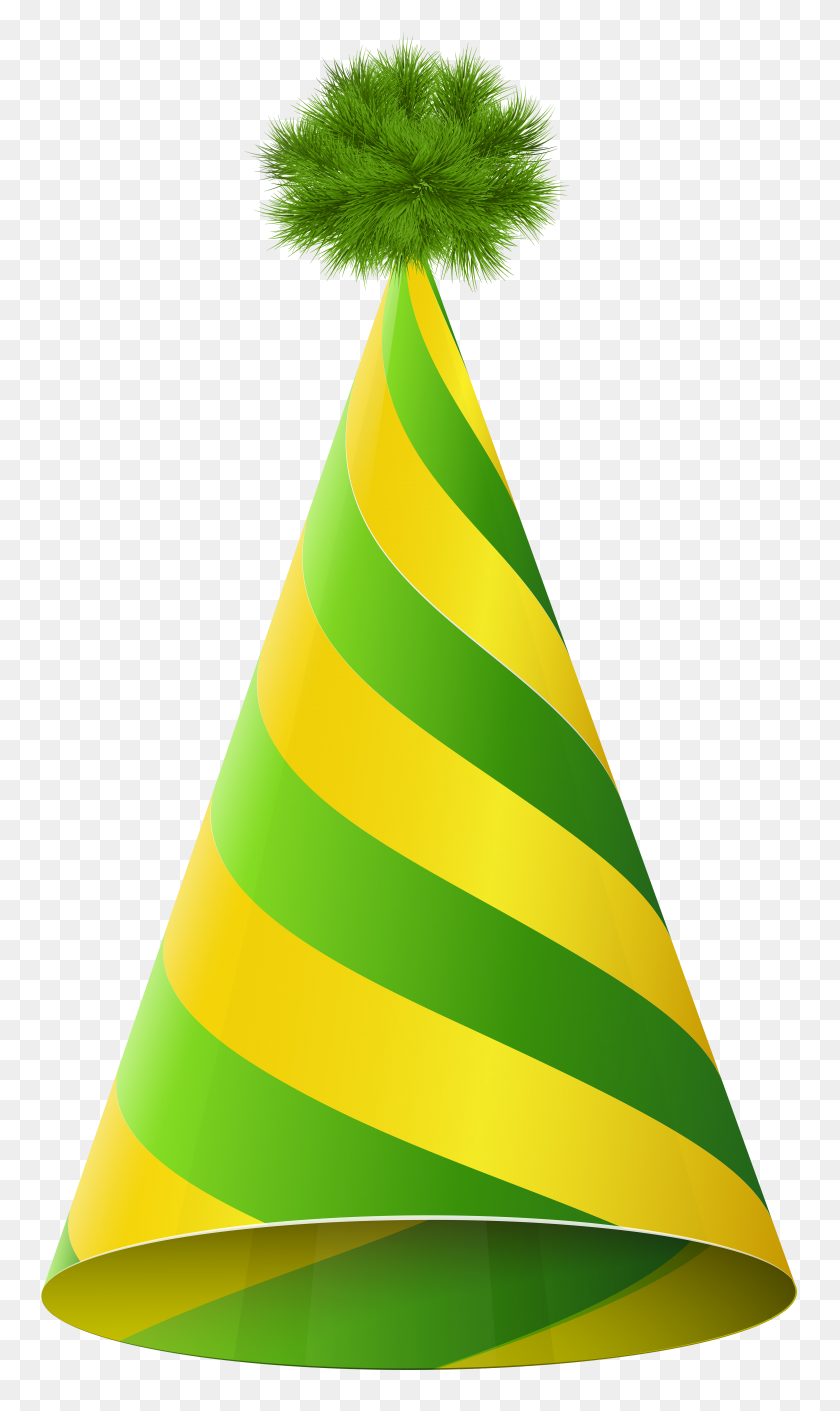 4616x8000 Party Hat Green Yellow Transparent Png Clip Art Gallery - Part Clipart