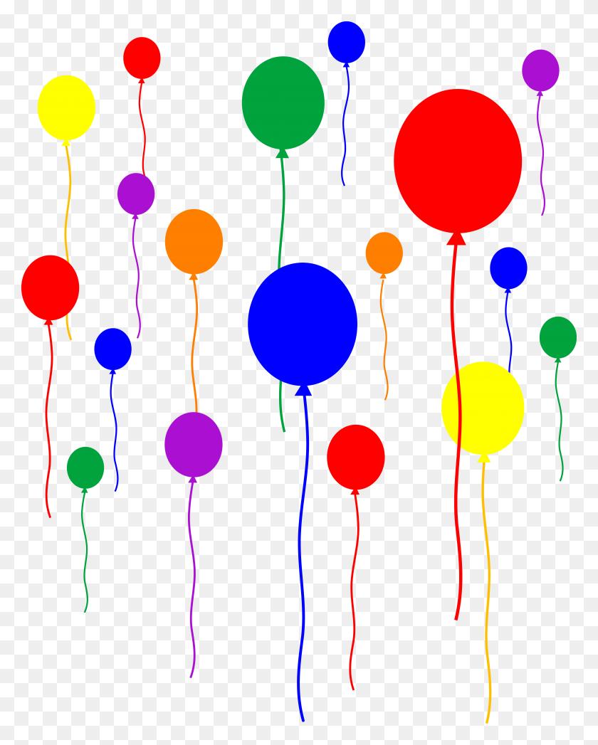 5847x7402 Party Helium Balloons Clip Art Vector Clip Art - Luau Party Clipart