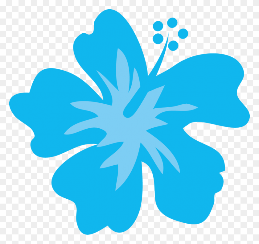 Party, Luau - Moana Flower Clipart