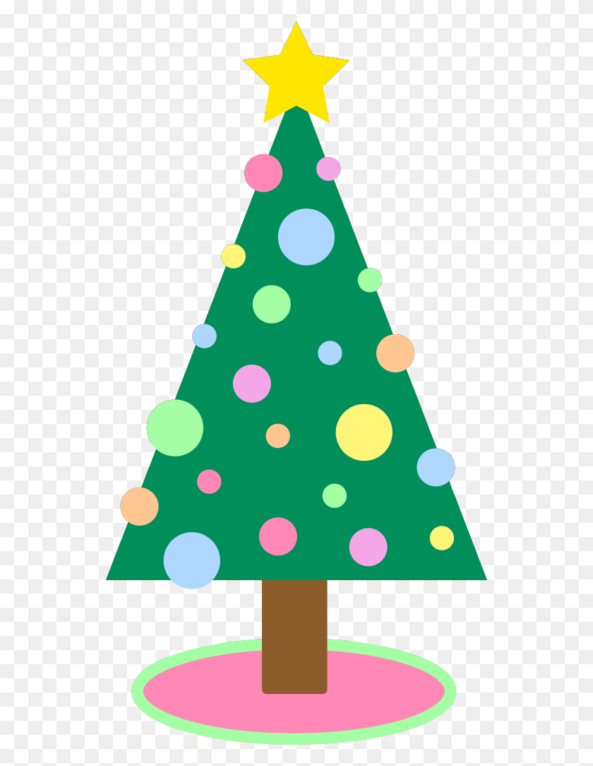 Pastel Christmas Tree Clipart - Christmas Ornaments Images Clip Art