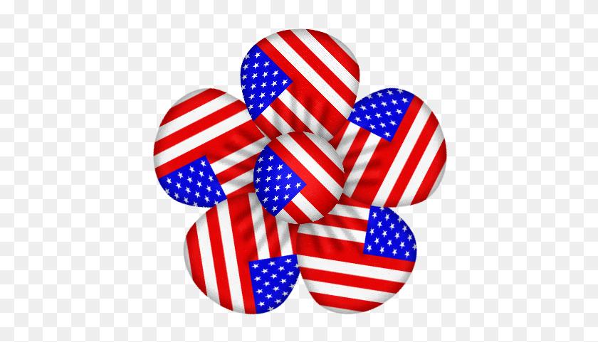 Patriotic Flower Clip Art Clip Art - Fourth Of July Clip Art