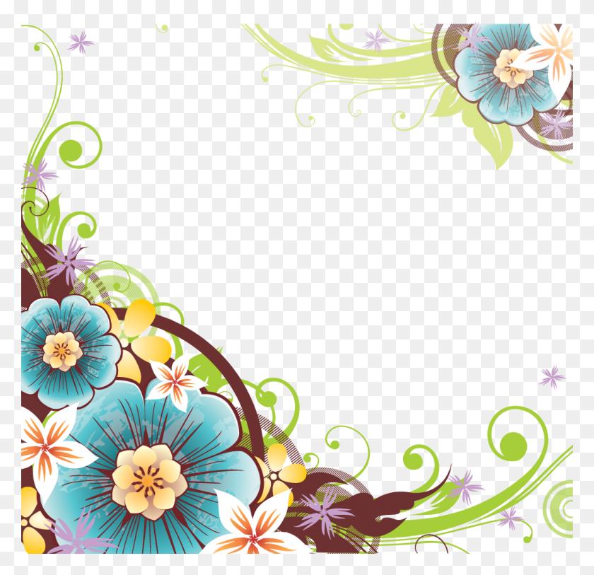 Patterns Flower Border Png, Border - Photo Border PNG