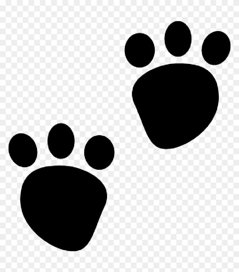 Paw Dog Clip Art - Dog Footprint Clipart