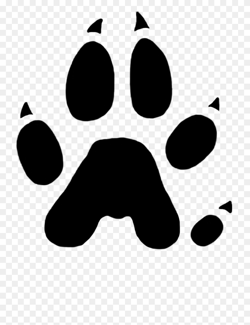 Paw Prints Clipart - Dog Footprint Clipart