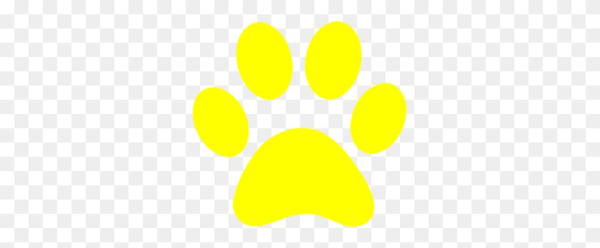 Paw Prints, Yellow, Pawprints - Puppy Paw Print Clip Art