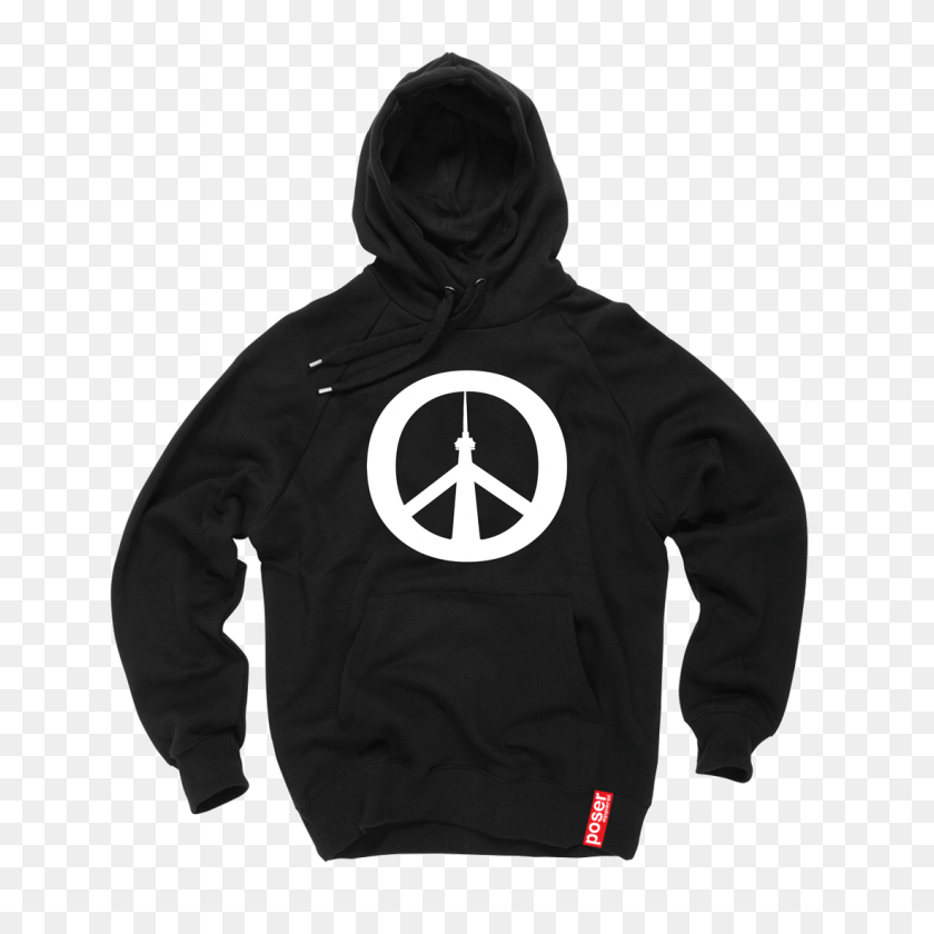 Peace City Hoodie - Black Hoodie PNG