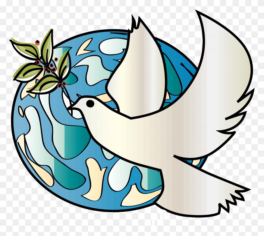 3300x2933 Peace Dove Clipart Bulletin - Free Clipart Dove Of Peace