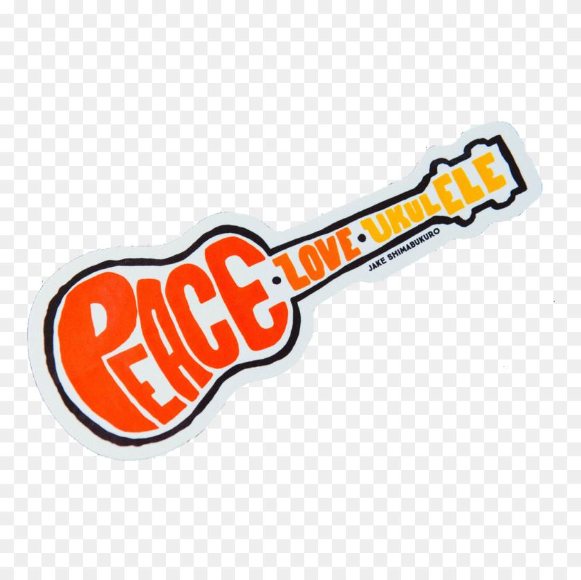1000x1000 Peace Love Ukulele Sticker Jake Shimabukuro Official Merchandise - Ukulele PNG