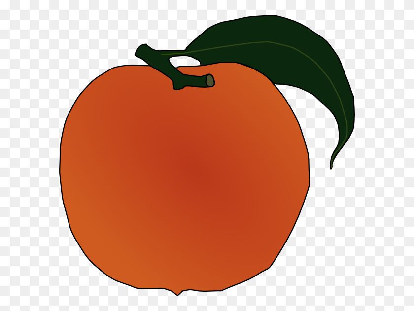 Peach Clip Art Free Vector - Marathon Clipart