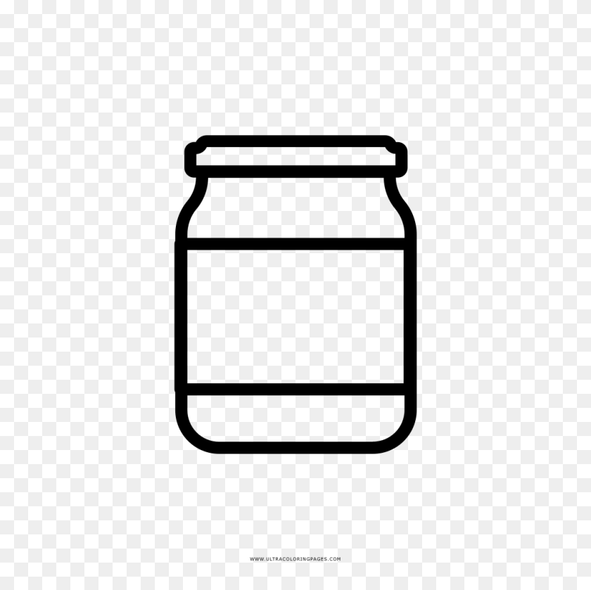 Container Clipart Big Jar - Cartoon Peanut Butter Jar, HD Png Download -  kindpng