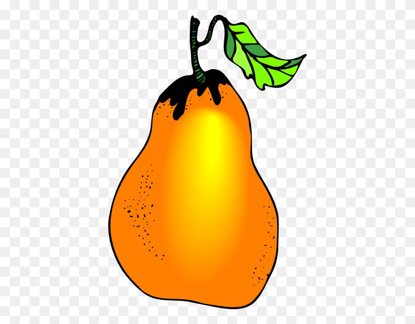 Pear Clipart Orange - Pear Clipart