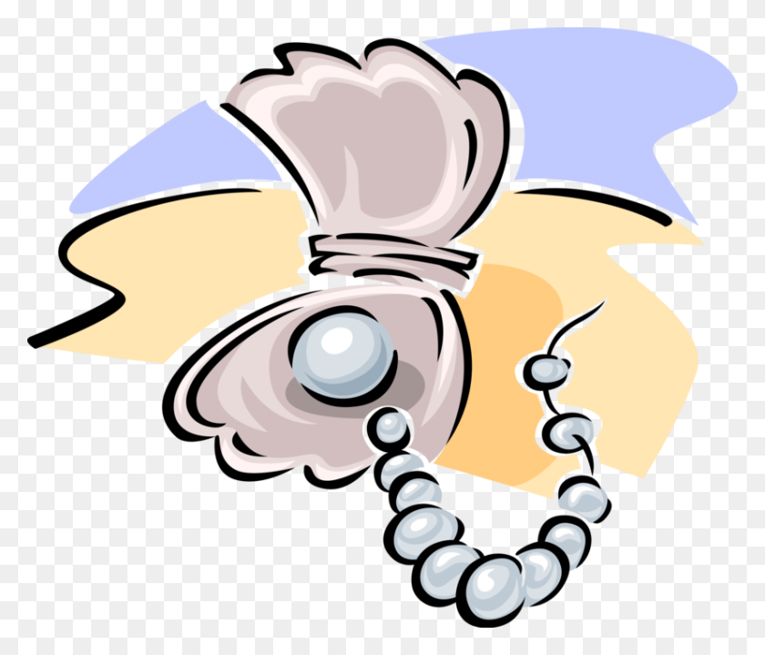 Pearl Necklace With Oyster - Oyster With Pearl Clipart