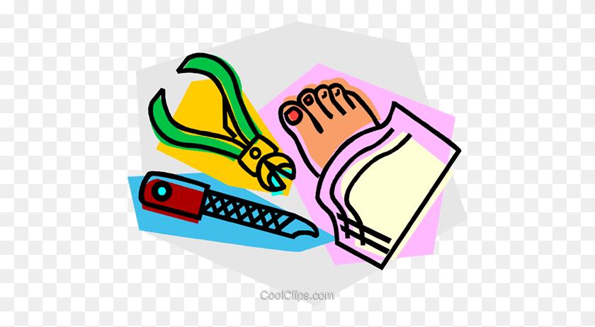 Pedicure Livre De Direitos Vetores Clip Art - Pedicure Clipart