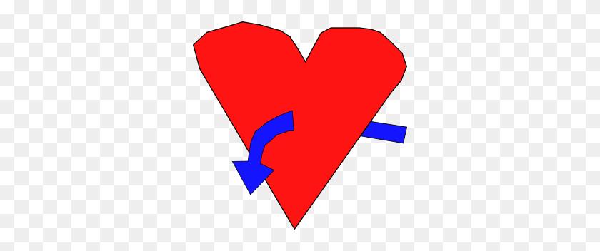 300x292 Pegasossigi Hart With Curve Arrow Png, Clip Art For Web - Arrow Heart Clipart