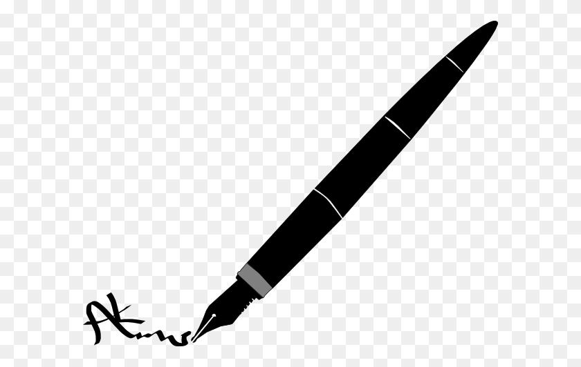 Pen Signature Clip Art - Pen Clipart PNG