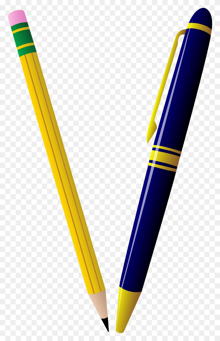 Pencil And Pen Duo - Pen Clipart PNG