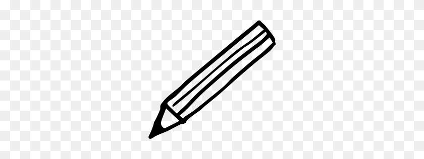 Pencil Icon Myiconfinder - Pencil Outline Clipart
