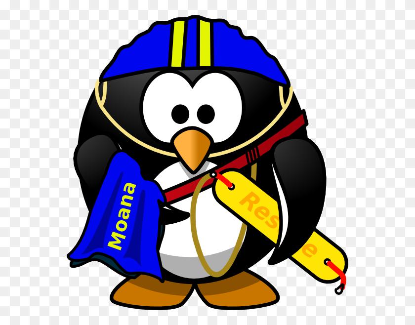 Penguin Lifeguard Clip Art - Moana Clipart