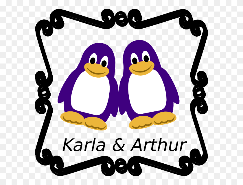 600x581 Penguin With Names Clip Art - Arthur Clipart